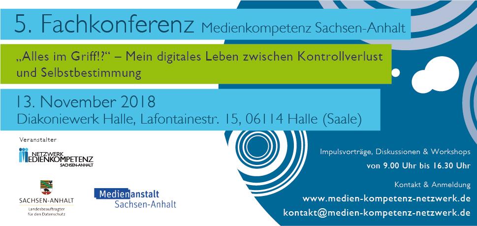 5. Fachkonferenz Alles im Griff!? – Mein digitales Leben zwischen Kontrollverlust und Selbstbestimmung